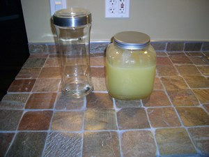 lemon chello glass jars