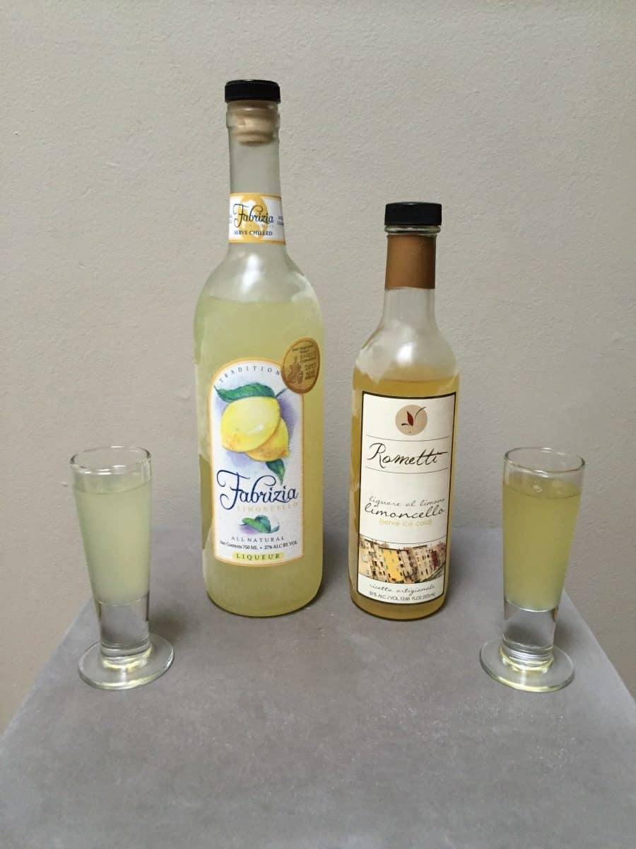 Review of two brands of limoncello
