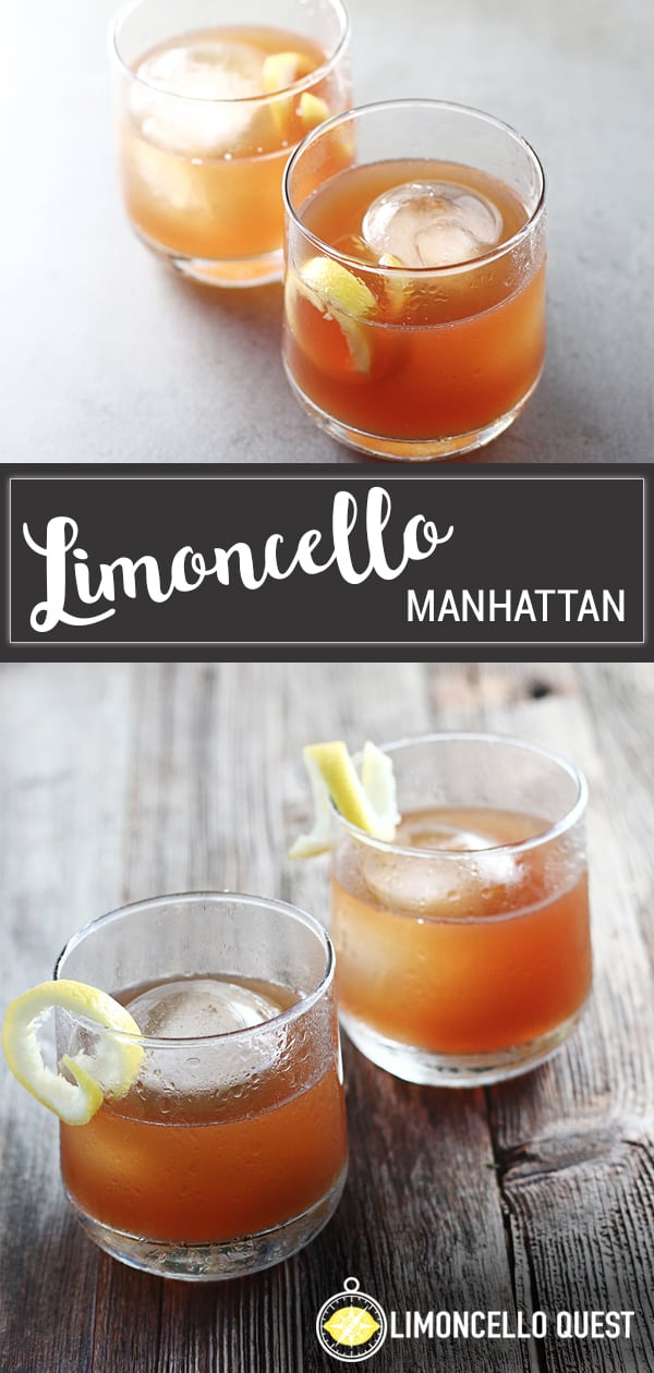 Limoncello Manhattan Cocktail Recipe