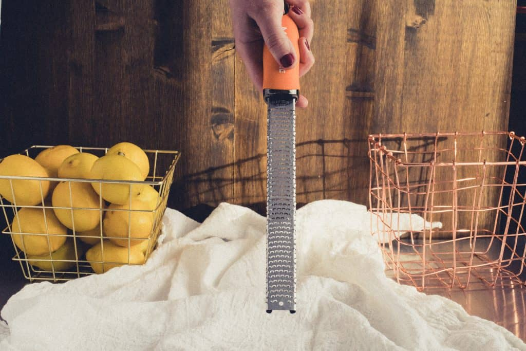 Zesting Lemons with Microplane Grater