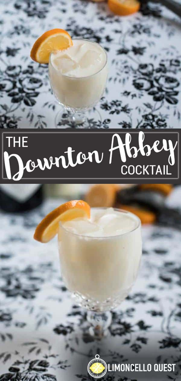 The Downton Abbey - A Meyer Lemon and Limoncello Creme cocktail from LimoncelloQuest