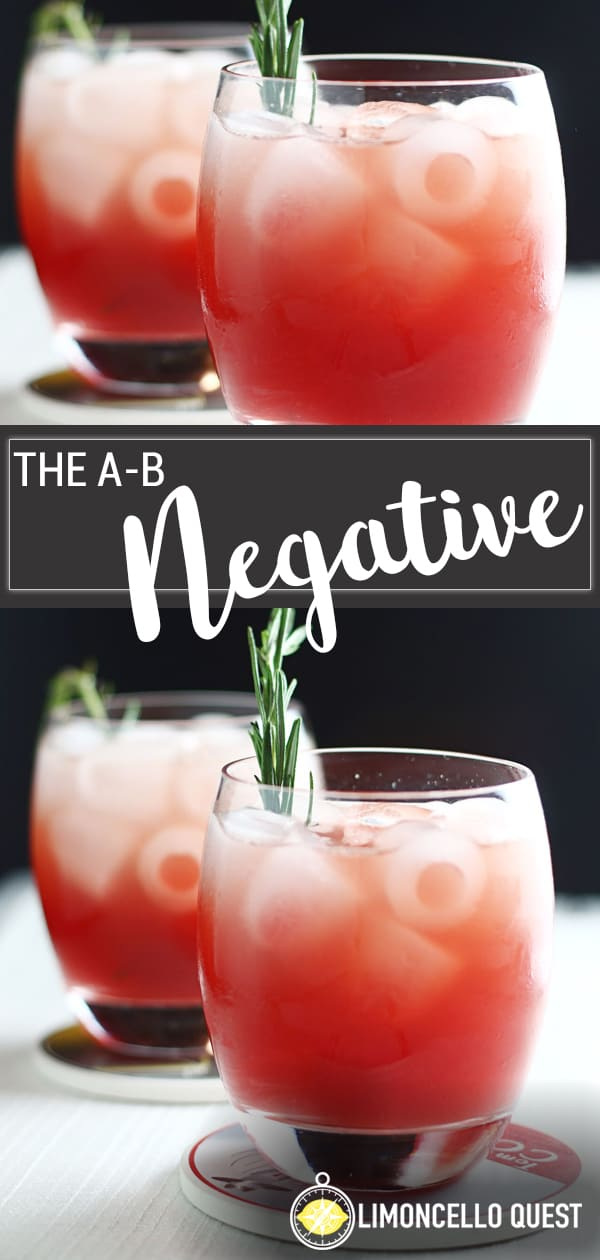 The AB Negative - A blood orange and bourbon cocktail from LimoncelloQuest