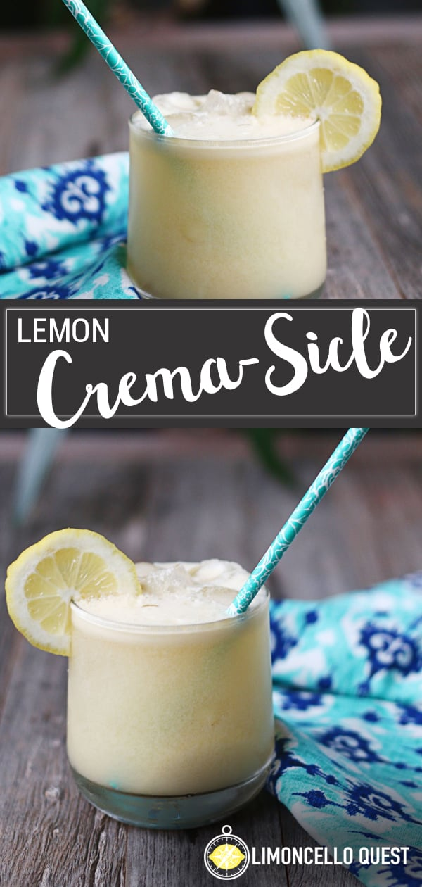 The Lemon Crema-sicle - a creamy rum cocktail from LimoncelloQuest