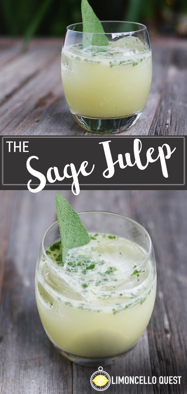 The Sage Julep - A fresh Herb and Bourbon Cocktail from LimoncelloQuest