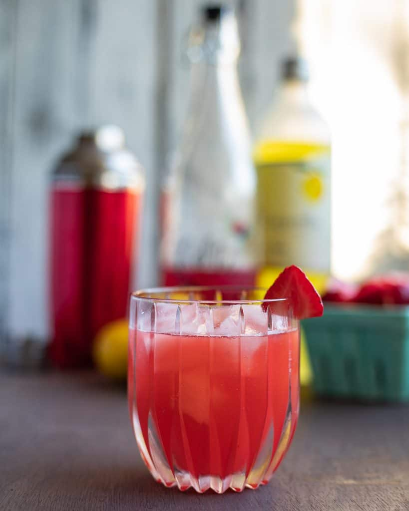 Sour Strawberry Cocktail