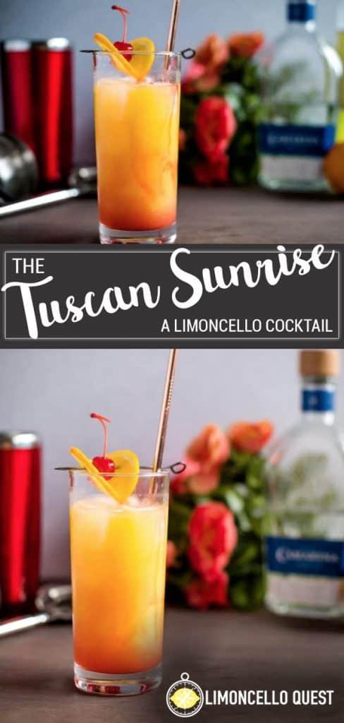 Limoncello Tequila Sunrise