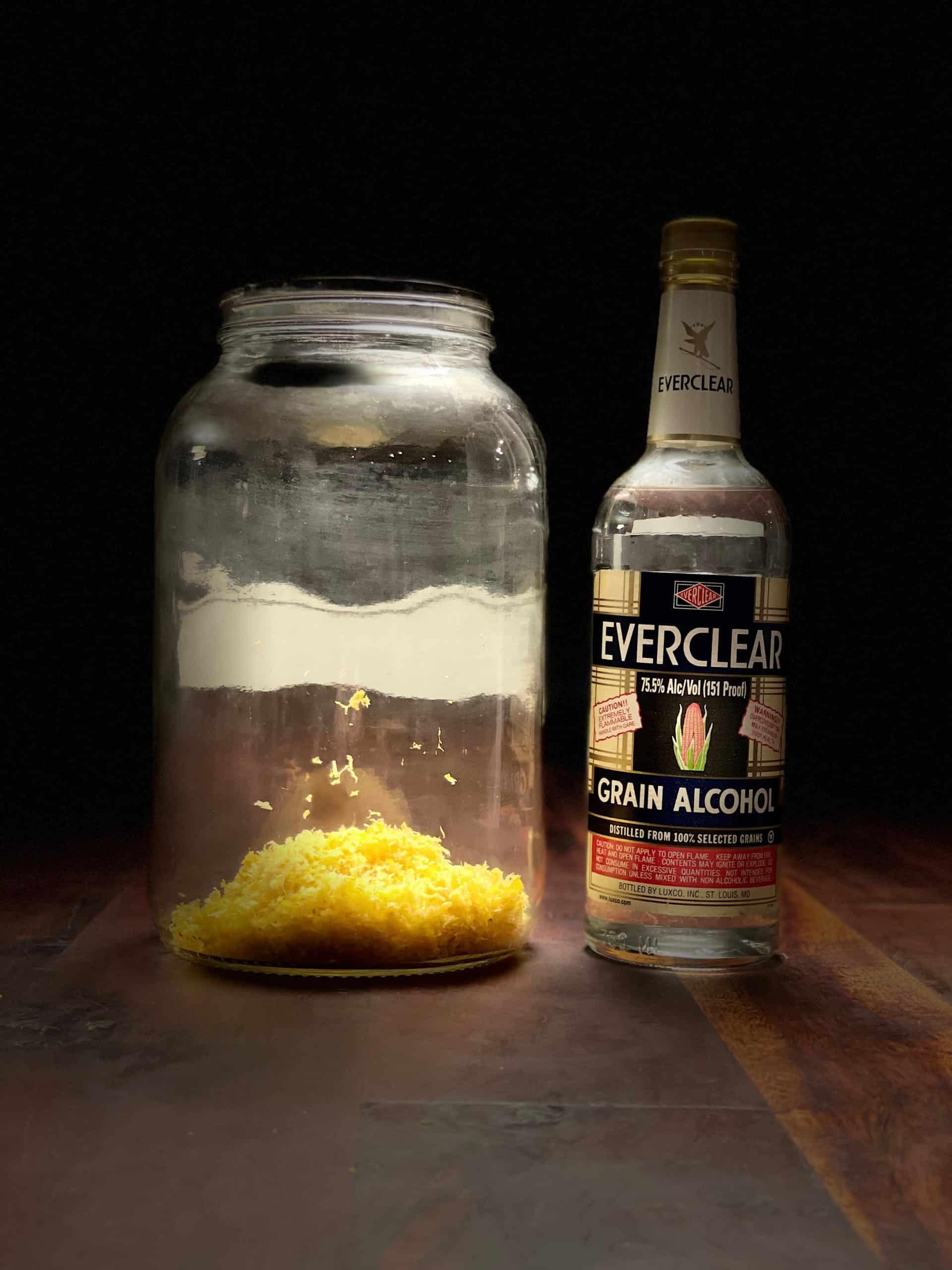 Liquor infusion of lemon zest